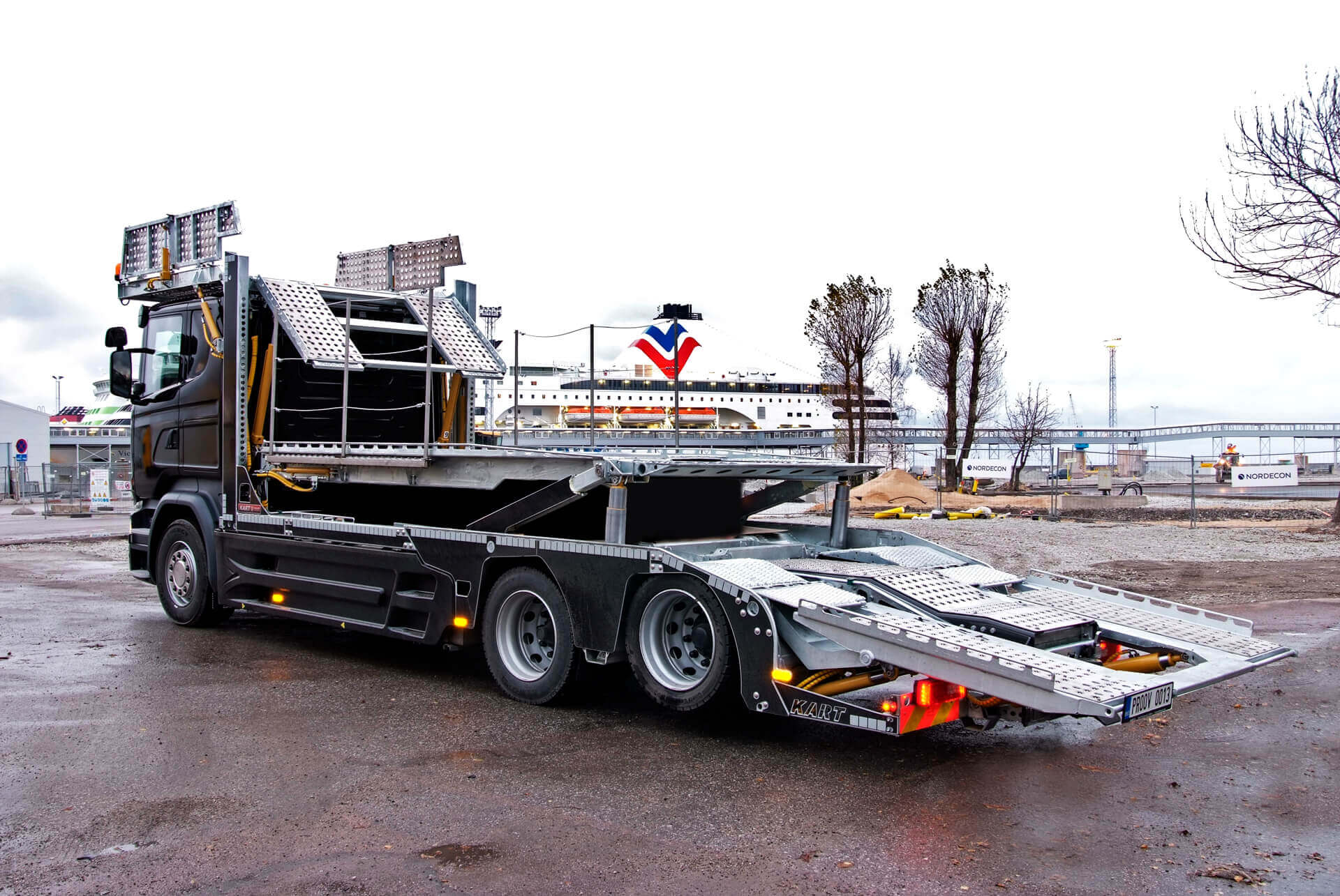 Black MEGATRANS trailer superstructure