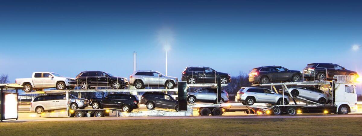 RAPID car hauler with 12 cars as cargo